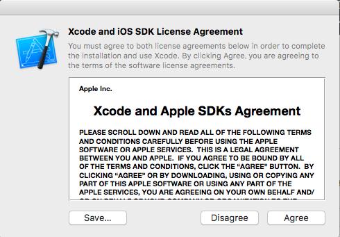 【エラー対応】Agreeing to the Xcode iOS license requires admin privileges please re-run as root via sudo._0