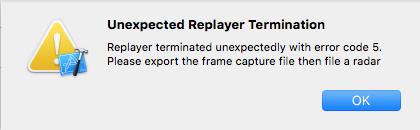 XcodeのGPUフレームキャプチャができなくなっている_1