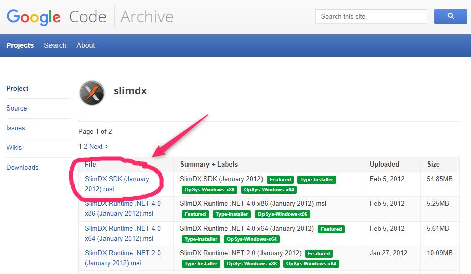 C#でDirectX SlimDXが使えるようになるまでのちょとした道のり_0