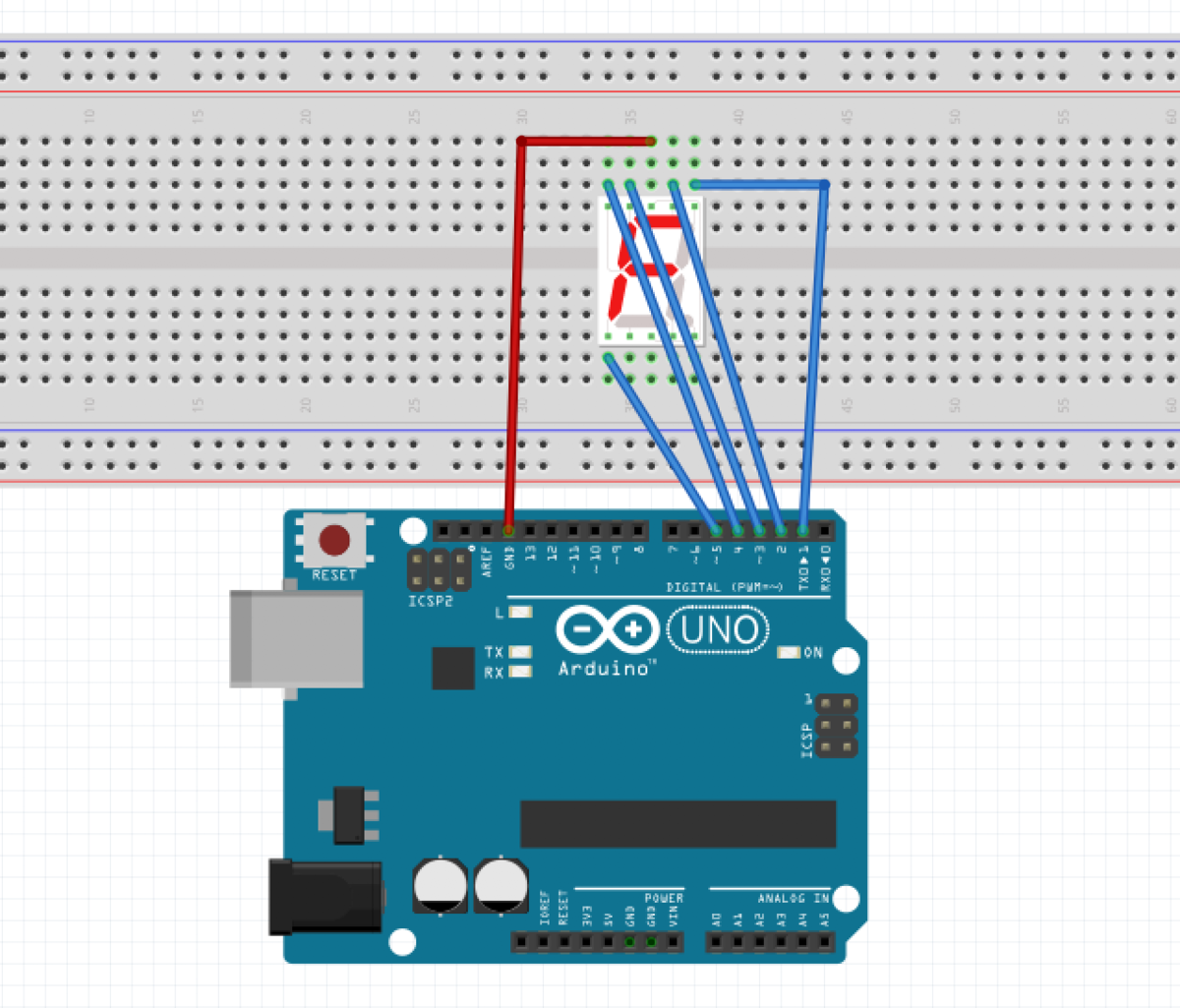 Arudino 1Digit 7-Segment Displayを使ってみる_0