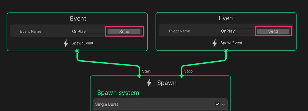 【Visual Effect Graph】StartとStopに同名のイベントを設定してはいけない件_1