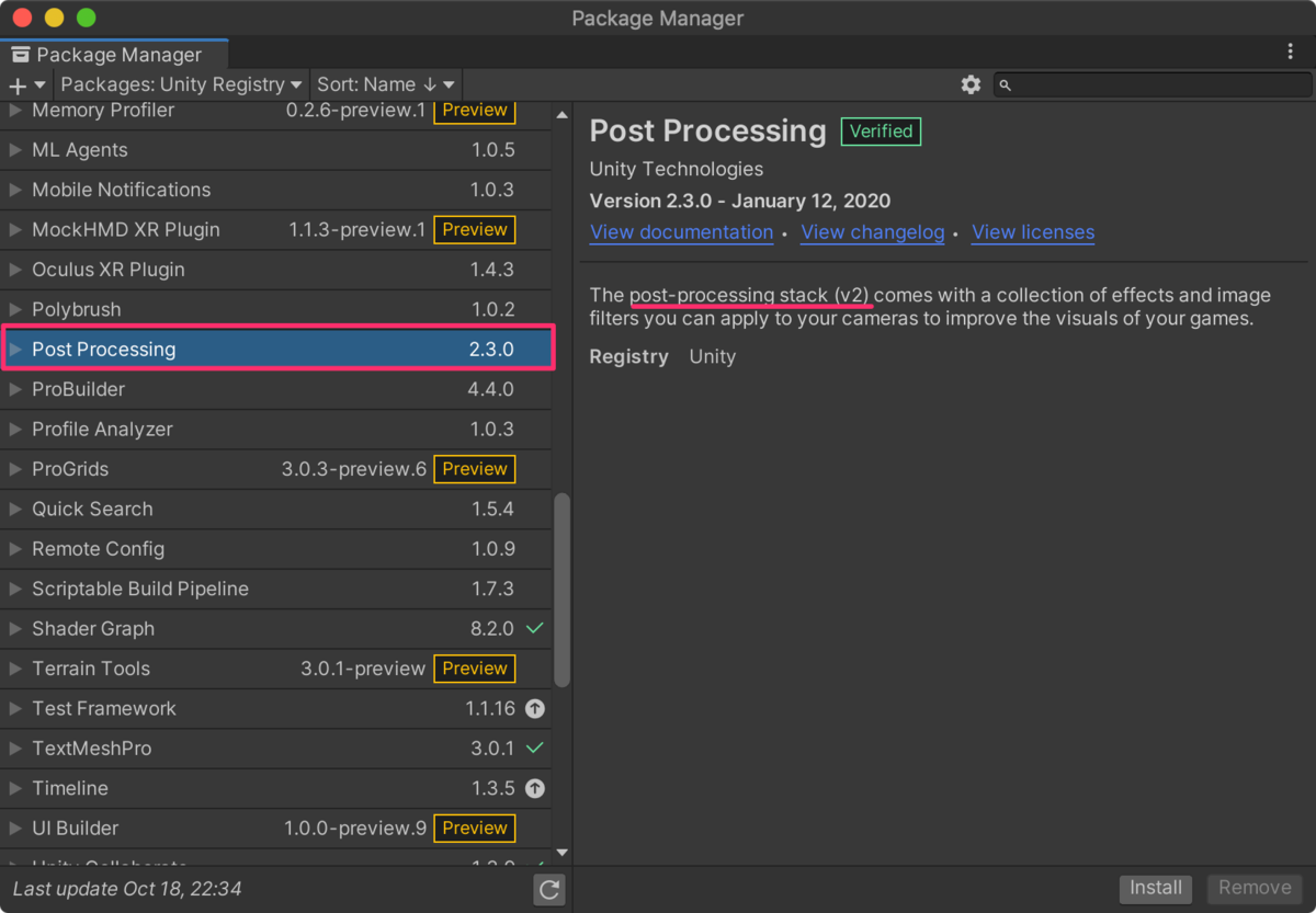 【Unity】Universal Render PipelineでVisual Effect Graphの始め方(ポストエフェクト付き)_2