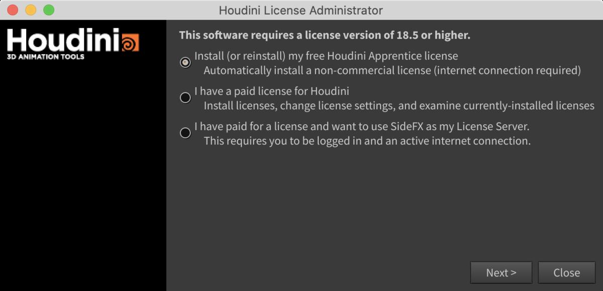 【無料】非商用Houdiniをインストールから初回起動までの方法_10