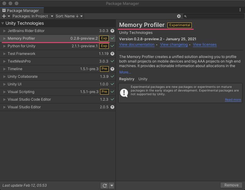 Unity2021.1ではMemory Profilerのインストール方法が変わります_3