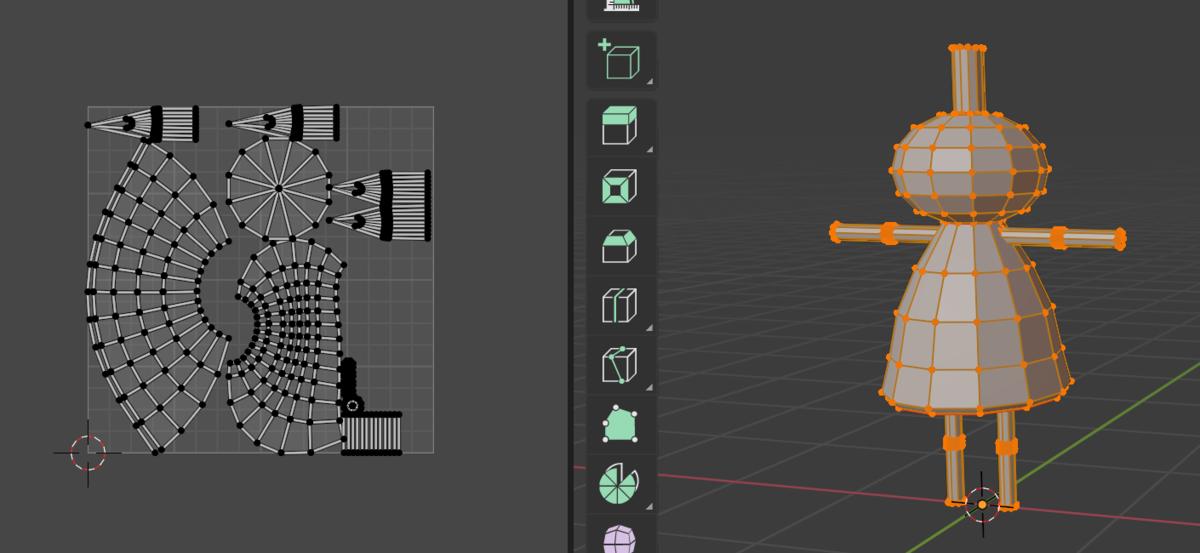 【Blender】かんたん初心者UV展開する方法_7