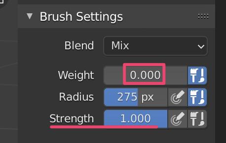 【Blender】かんたん初心者ボーンの適用とウェイト設定_13