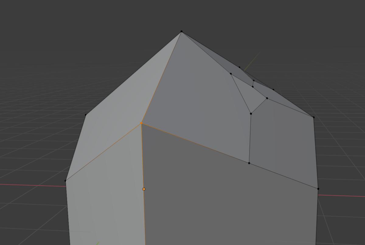 【Blender】かんたん初心者 頂点の分割方法_1
