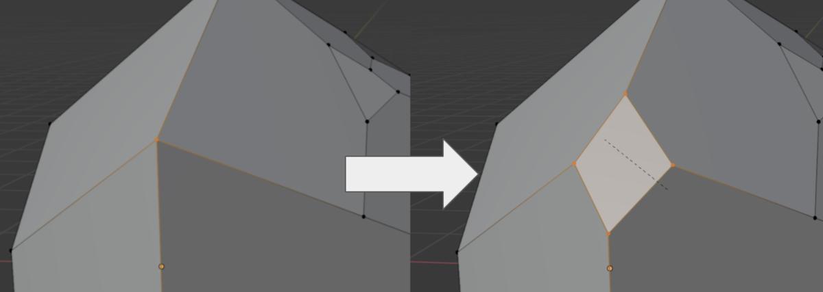 【Blender】かんたん初心者 頂点の分割方法_0