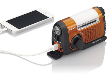 iPhone充電手回しラジオ