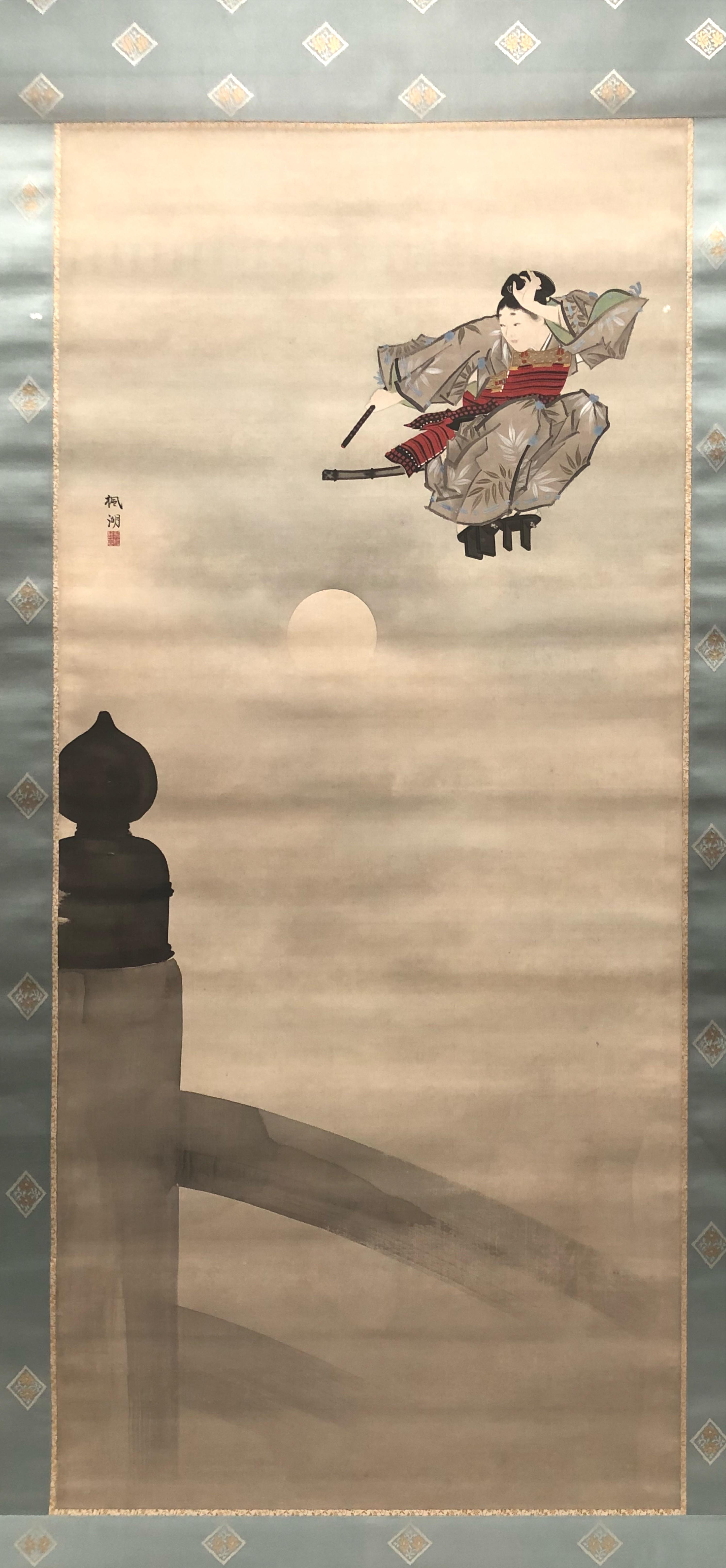東博の常設展・松本楓湖《牛若》...