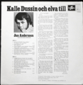 JAN ANDERSSON / KALLE DUSSIN OCH ELVA TILL ( LP )