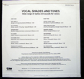 VOCAL SHADES AND TONES - BARBARA MOORE / WIDE RANGE OF STYLES AND SOUNDS FOR VOICES ( JAPANESE P