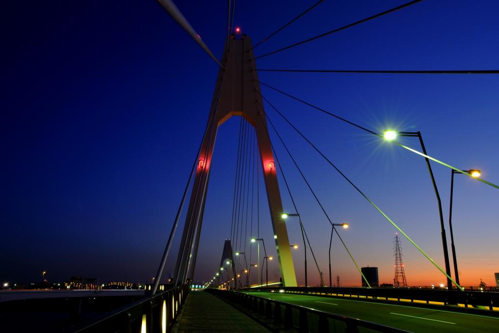 個別「[AF-S DX 16-85mm F3.5-5.6G VR]暮れる大師橋」の写真、画像 - 東京の夜景 - estelの記録帳