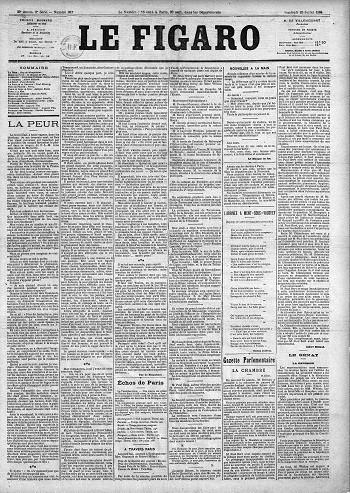 『フィガロ』1884年7月25日
