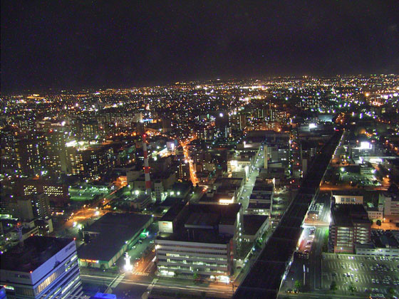 札幌から駅東を望む