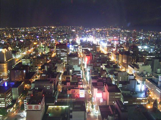 札幌から南側を望む