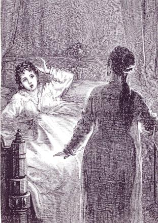怪しい女の人影を見るローラ。
