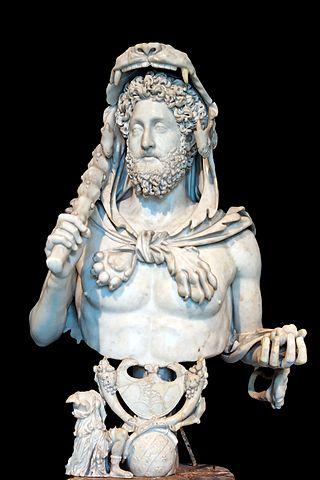 コンモドゥス帝の胸像の写真