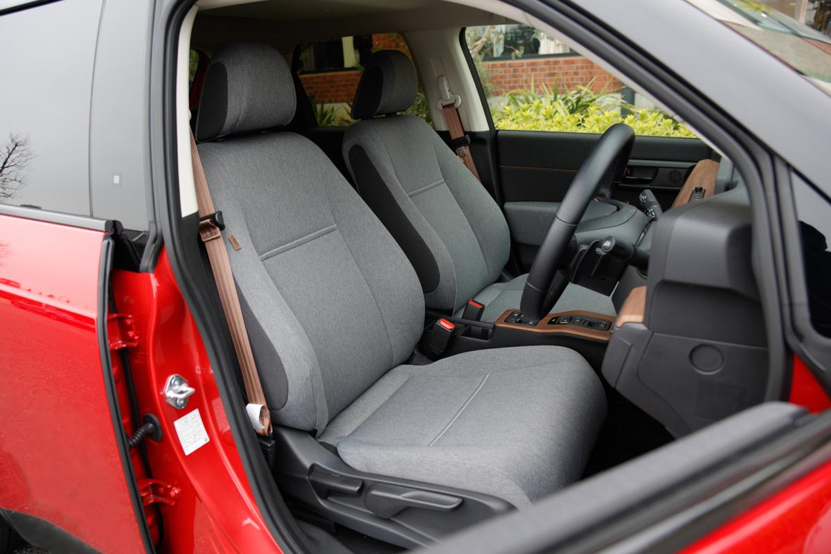 Honda eの車内