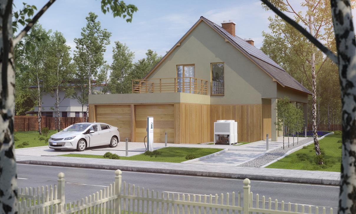 電気自動車と一軒家