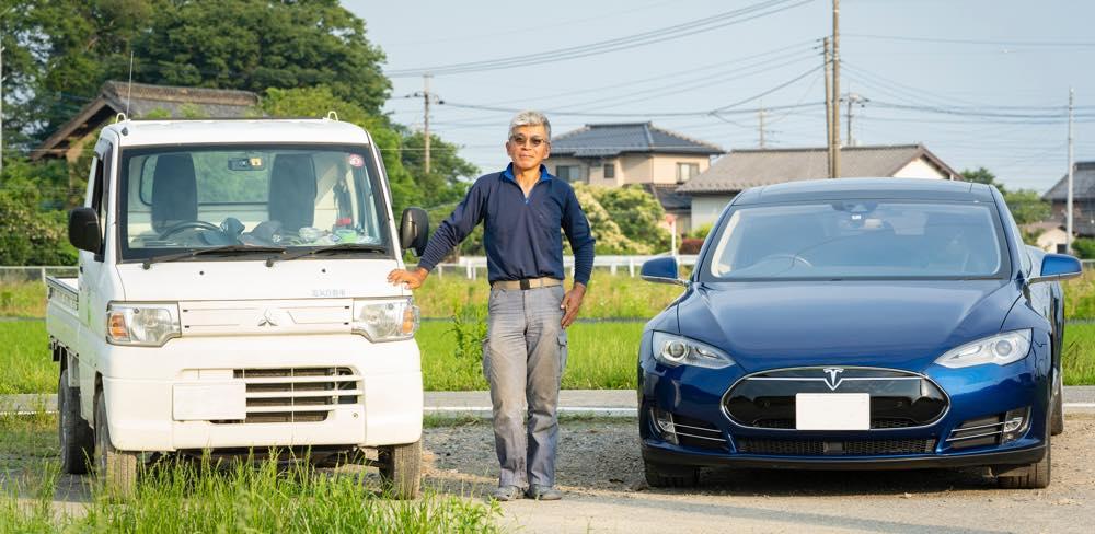 江守さんと車2台