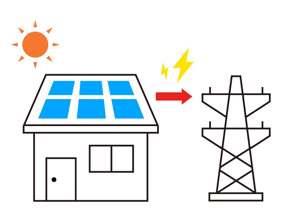 選択肢①:電力会社との契約を続けて余剰電力を買い取ってもらう