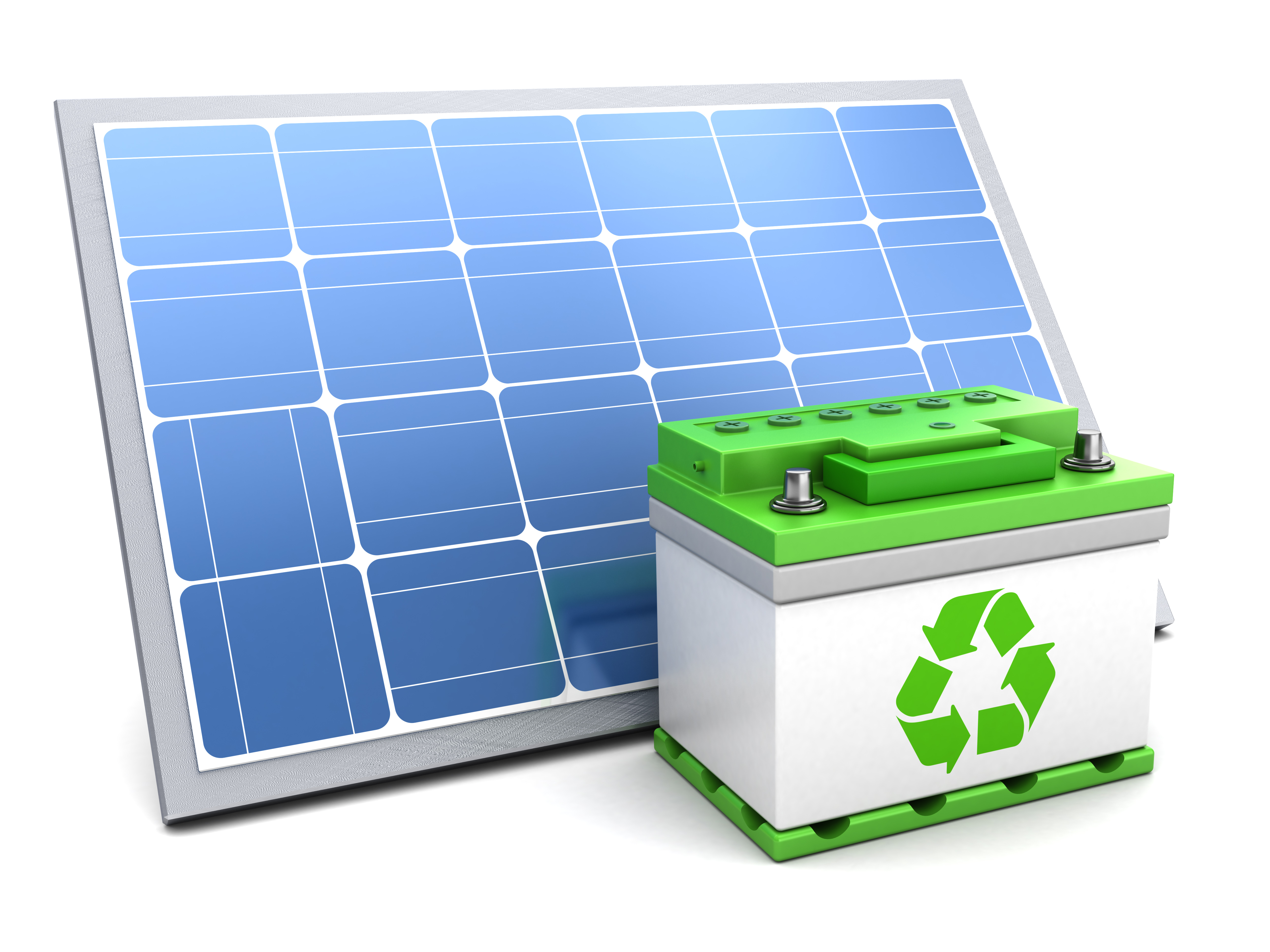 ソーラーパネルとバッテリー