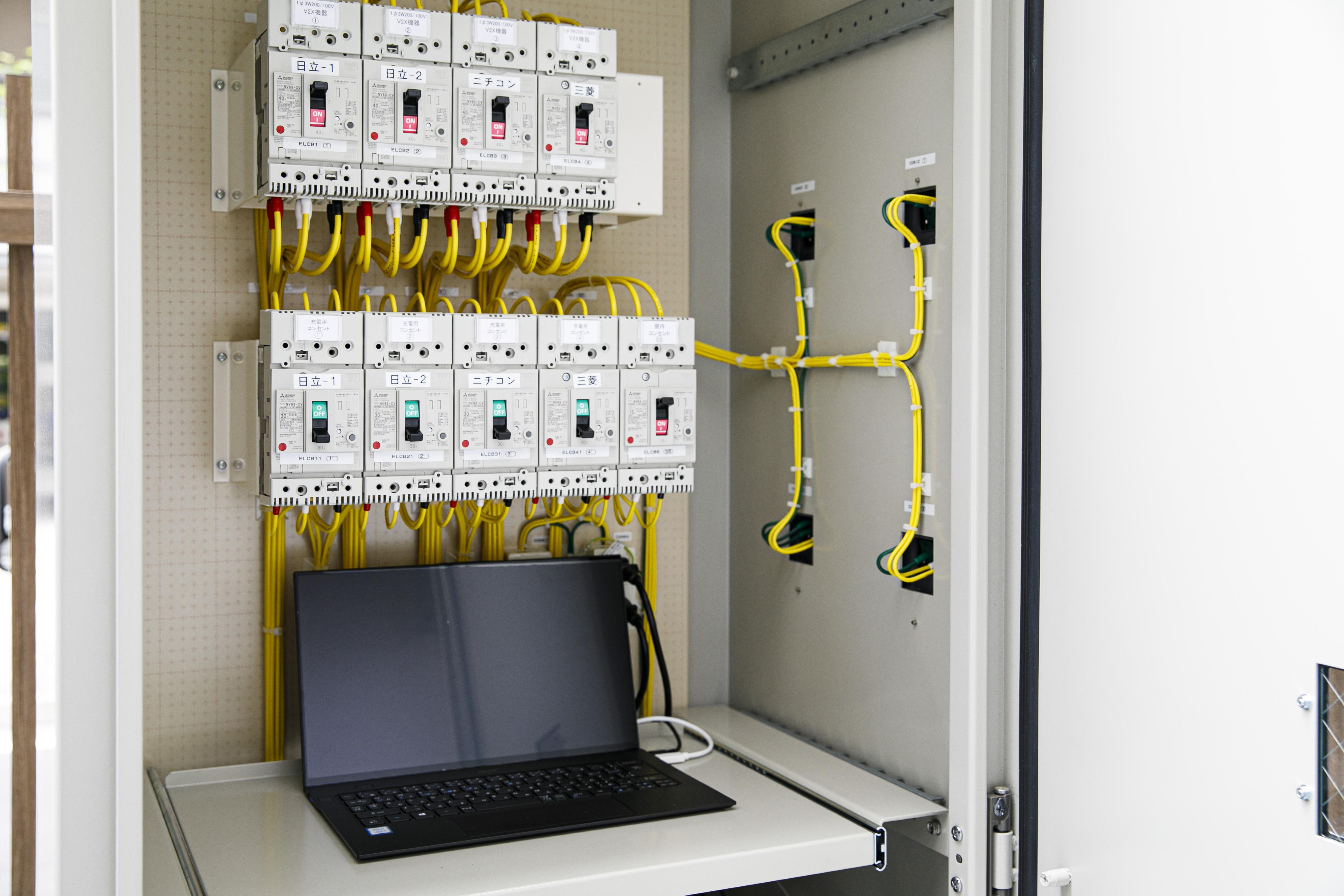 V2X機器を同時制御する設備