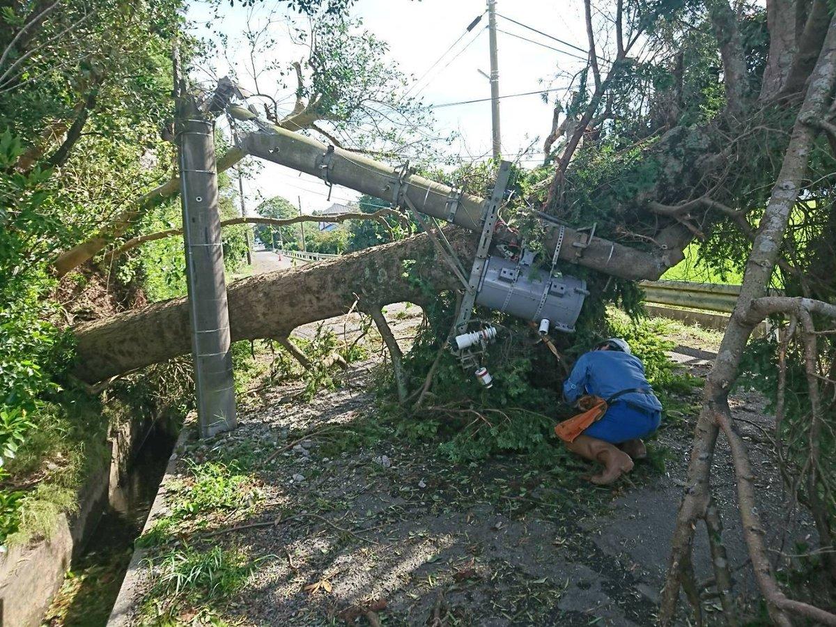 千葉停電の際の復旧の様子