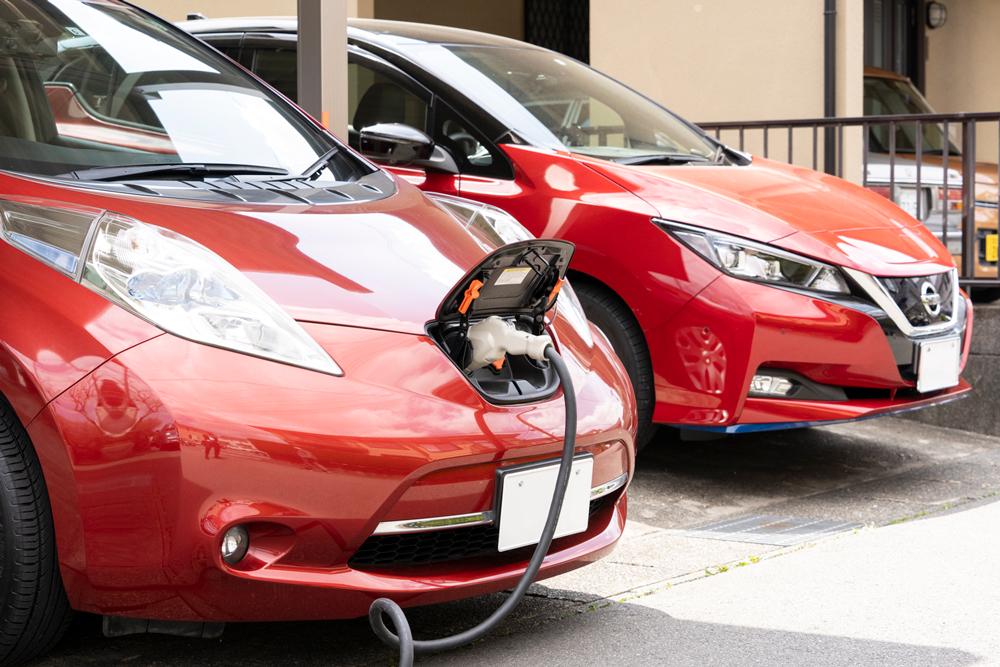 EV充電の様子