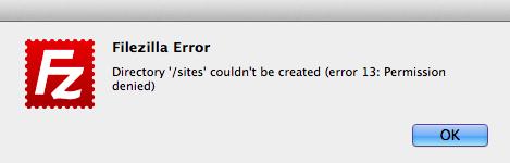 filezilla error