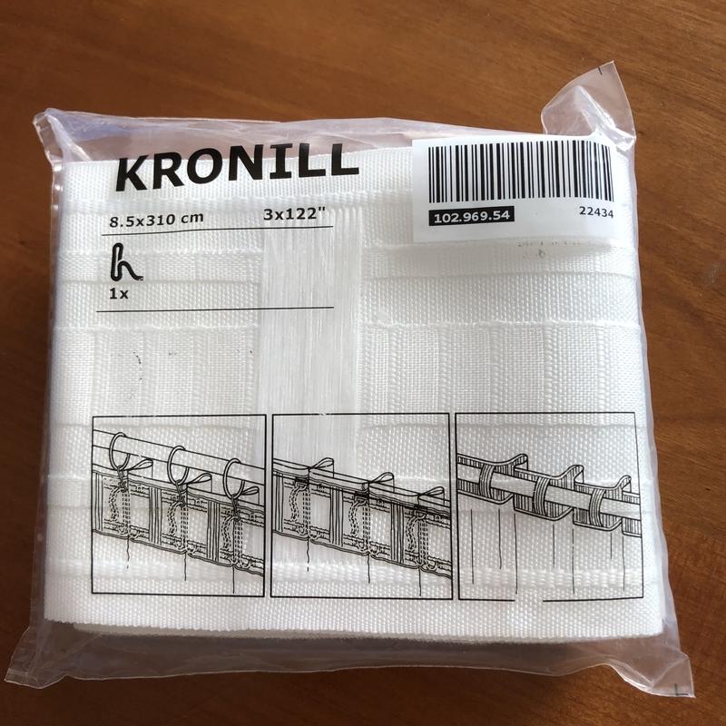 KRONILL クローニール ヘディングテープ, ホワイト