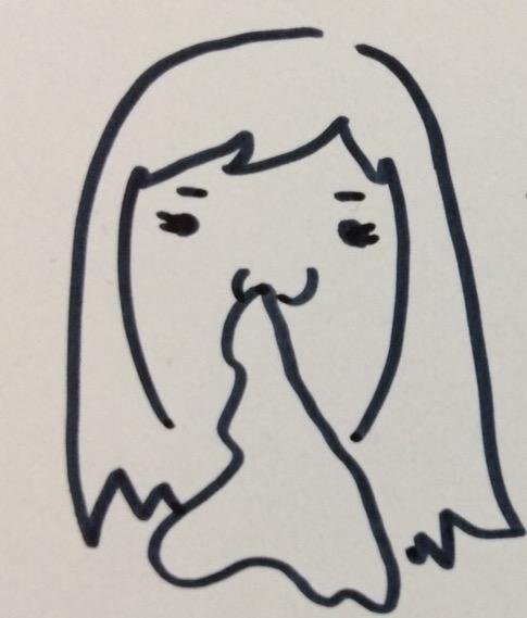 ティッシュを鼻に詰めて、外出する女性