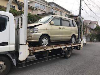 厚木市の故障車の廃車引き取り