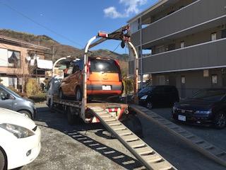 寄居町の故障車の廃車引き取り