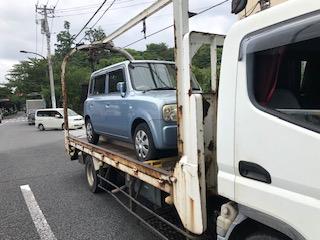 立川市のレッカー車での廃車引き取り