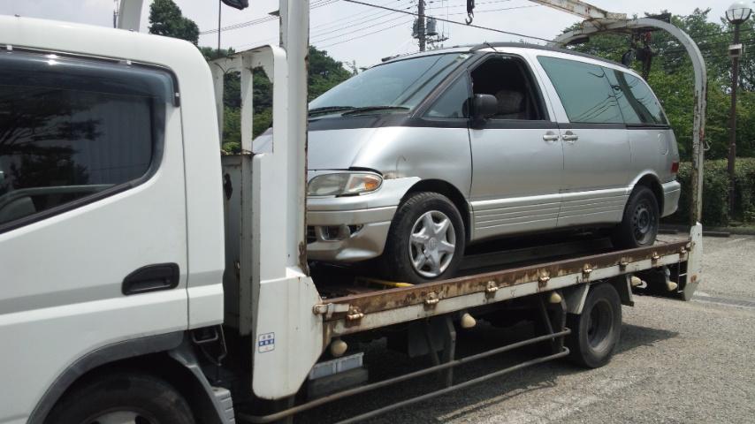 武蔵野市のレッカー車での廃車引き取り
