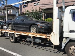 西東京市のレッカー車での廃車引き取り