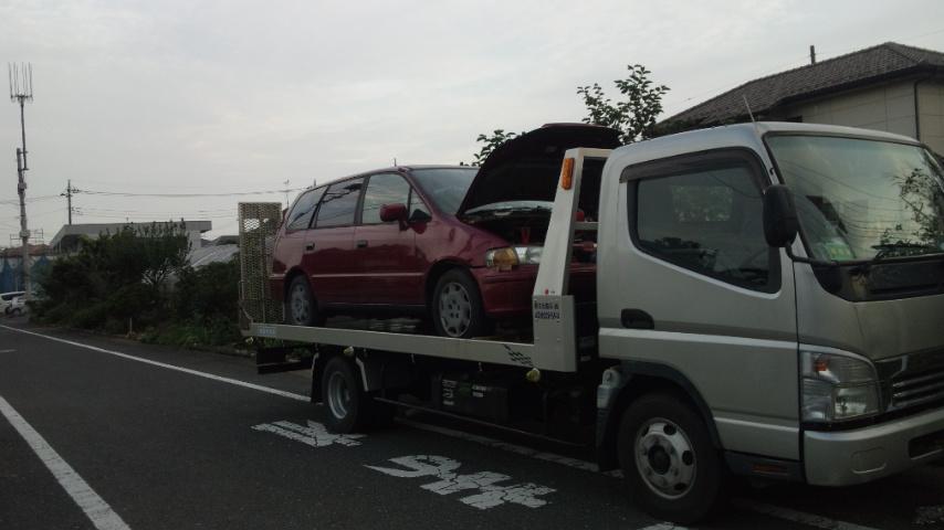 狛江市のレッカー車での廃車引き取り