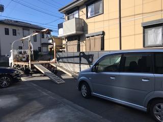 久喜市のレッカー車での廃車引き取り