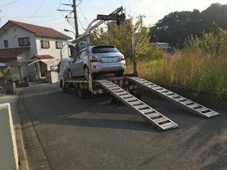 北本市のレッカー車での廃車引き取り