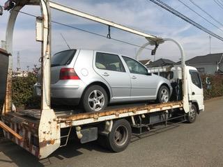 鴻巣市のレッカー車での廃車引き取り