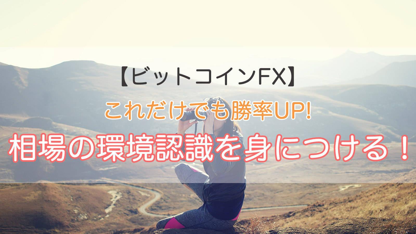 ビットコインFX|これだけでも勝率UP!相場の環境認識を身につける!