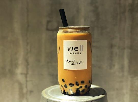 浅草wellのタピオカミルクティー(ロイヤルミルクティー)