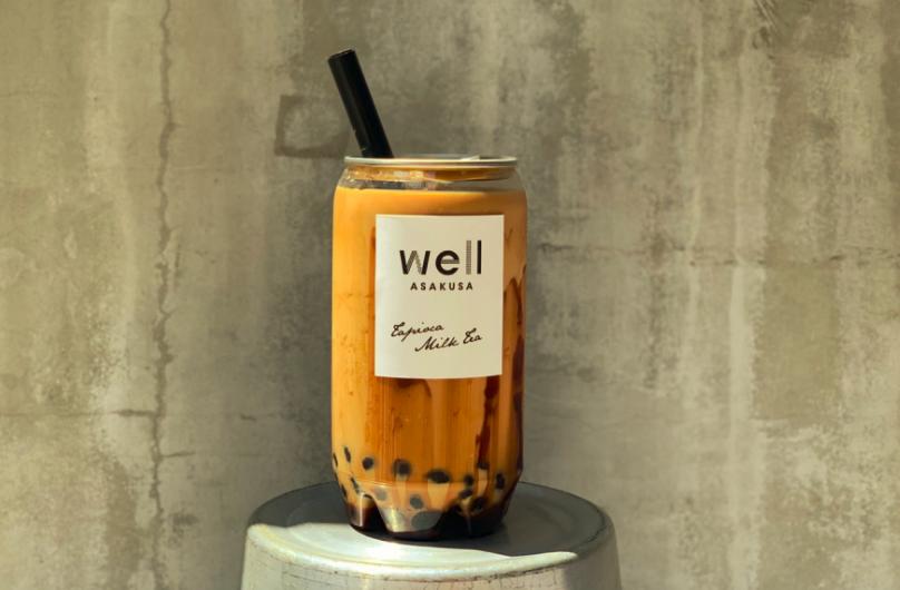 浅草wellのタピオカロイヤル黒糖ミルクティー