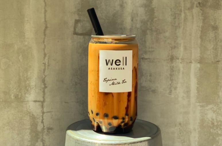 浅草wellのタピオカ烏龍黒糖ミルクティー