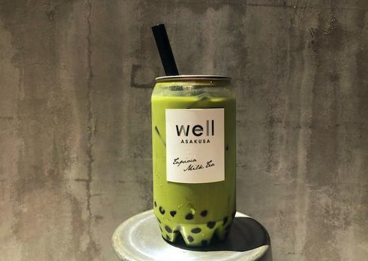 浅草wellのタピオカ抹茶ミルク