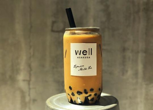 浅草wellのタピオカアールグレイチョコレートミルクティー