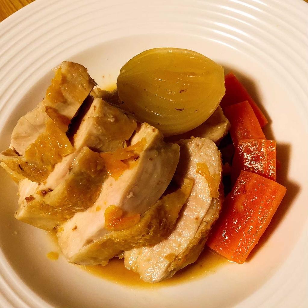 鶏のソテー マーマレードのソース