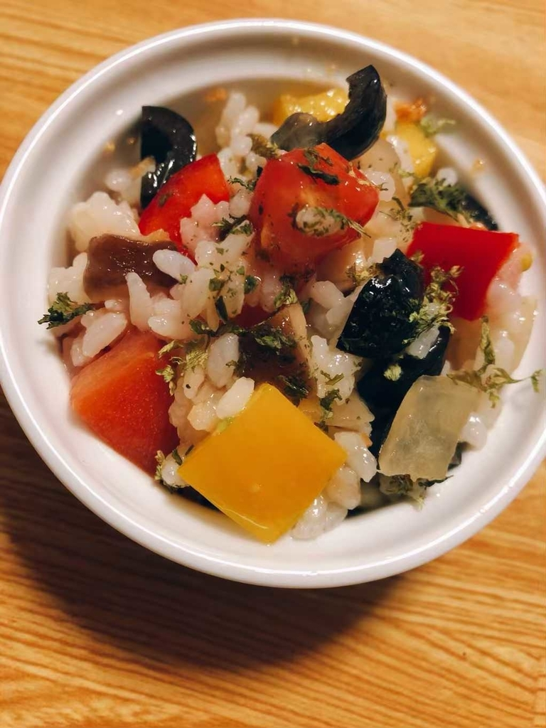 米のサラダ